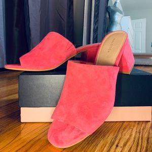 *NIB* Halogen Hafreda Guava Pink Suede Mule Sandal